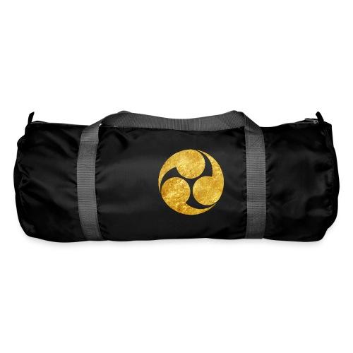 Kobayakawa Mon Japanese clan gold on black - Duffel Bag