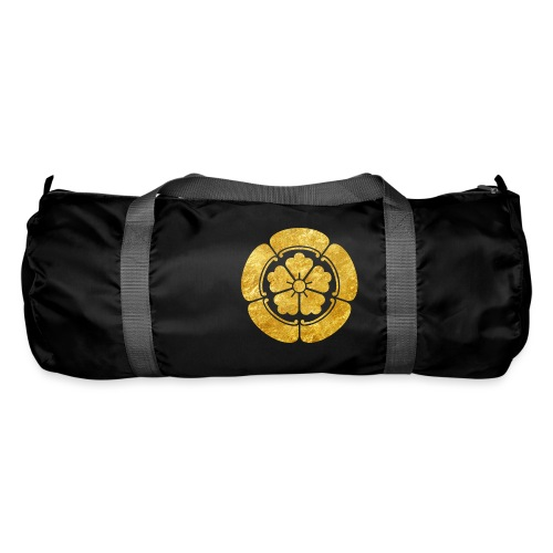 Oda Mon Japanese samurai clan faux gold on black - Duffel Bag