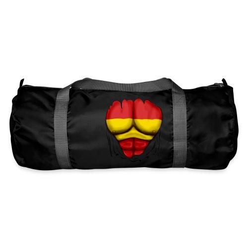 España Flag Ripped Muscles six pack chest t-shirt - Duffel Bag