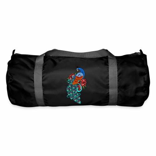 Farverig påfugl - Sportstaske