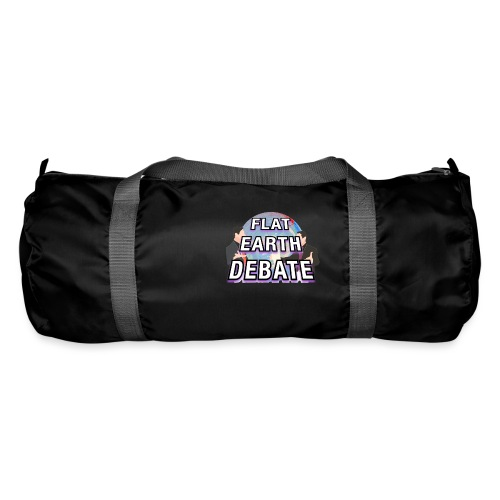 Flat Earth Debate Solid - Duffel Bag