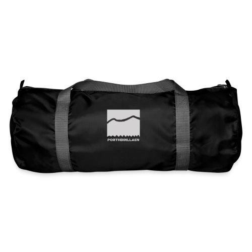LOGO WHITE lg png - Duffel Bag