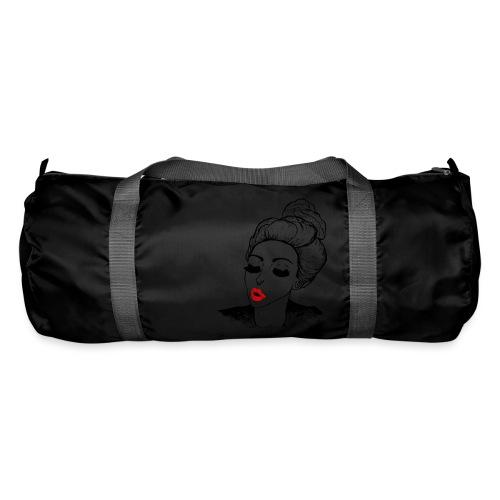 Vintage Retro Girl Kiss message - Duffel Bag