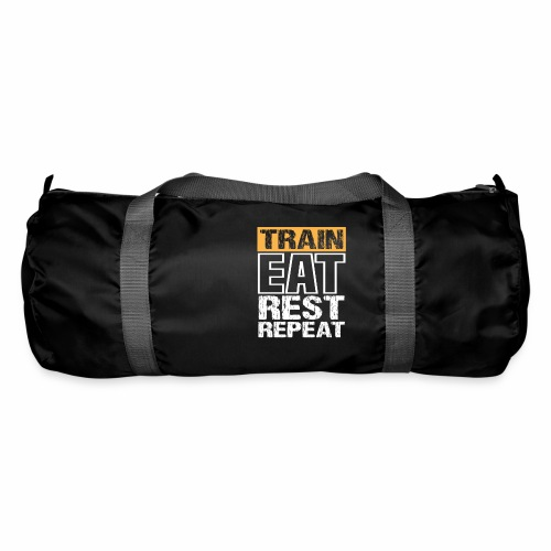 Train, Eat, Rest, Repeat - Training T-Shirt - Sporttasche