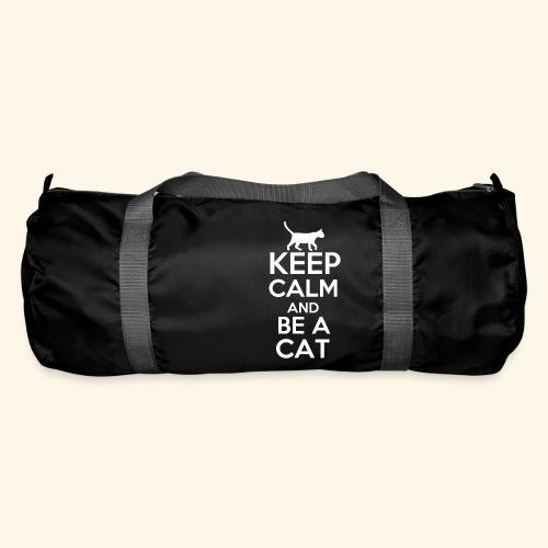 Keep Calm Katzen T-Shirt Englisch - Sporttasche
