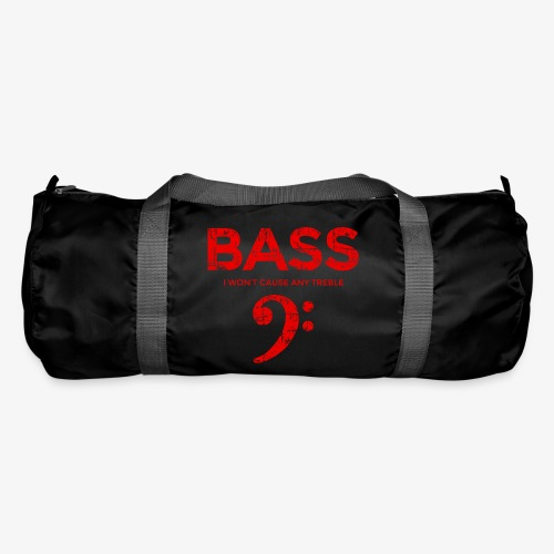 BASS I wont cause any treble (Vintage/Rot) Bassist - Sporttasche