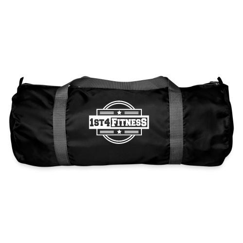 1st4Fitness White Back & Front - Duffel Bag
