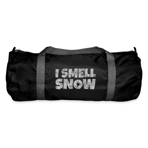 I Smell Snow (Grau) Schnee, Winter, Wintersport - Sporttasche