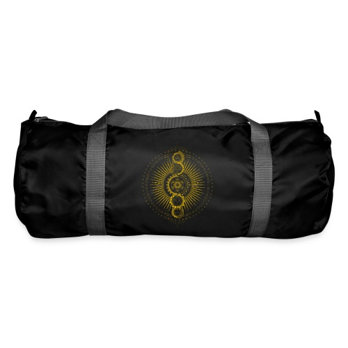 Sacred Geometry Metatron's Cube Gold Transcendence - Duffel Bag