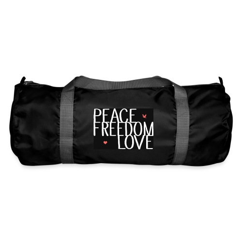 PEACE FREEDOM LOVE - Sporttasche