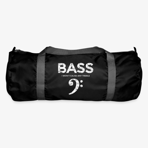 BASS I wont cause any treble (Vintage/Weiß) - Sporttasche