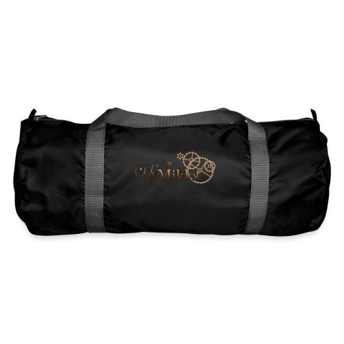 miklof logo gold wood gradient 3000px - Duffel Bag