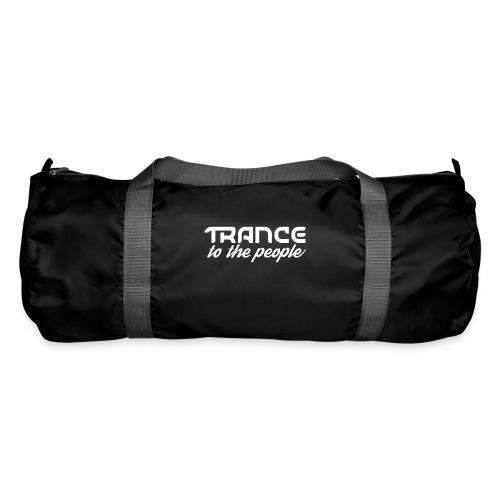 Trance to the People Hvidt Logo - Sportstaske