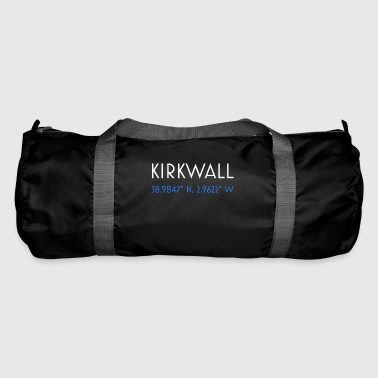 Kirkwall Orkney minimalistische Koordinaten - Sporttasche