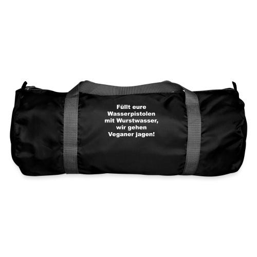 Wasserpistole mit Wurstwasser füllen - Sporttasche