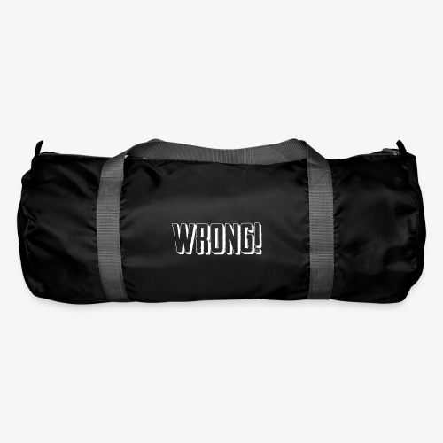 wrong logo white - Duffel Bag