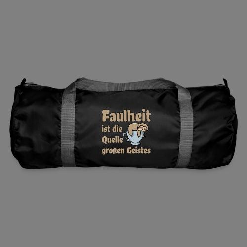 Faulheit - Sporttasche