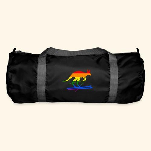 Skifahrer Känguru Ski Wintersport Regenbogenfahne - Sporttasche