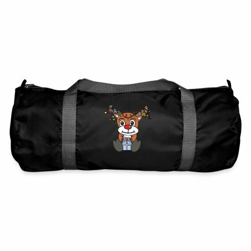 Rentier mit Lichterkette - Sporttasche