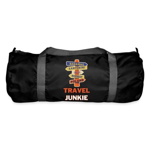 traveljunkie - i like to travel - Sporttasche