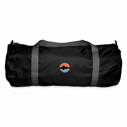 Retro Barsch Angeln Fisch Wurm Raubfisch Shirt - Sporttasche