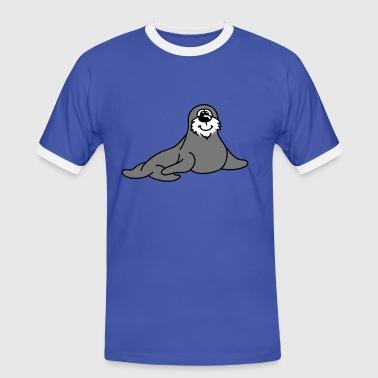 pequeña foca - Camiseta contraste hombre