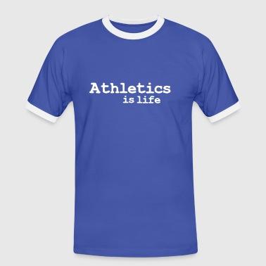 athletics is life - Kontrast-T-skjorte for menn