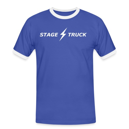 stage truck max300 2d transparent white - Men's Ringer Shirt
