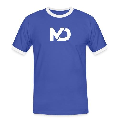 logo_wit - Mannen contrastshirt