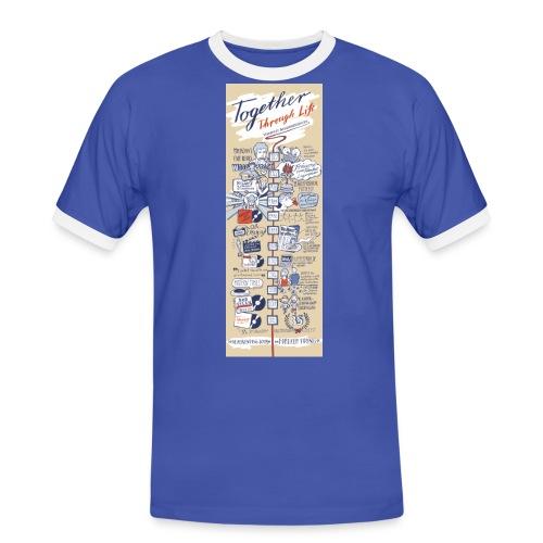 Timeline - Männer Kontrast-T-Shirt