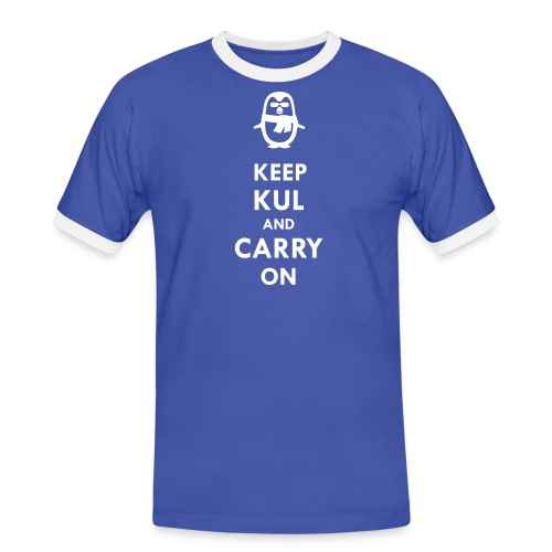 Keep KUL and carry on Bua - Männer Kontrast-T-Shirt