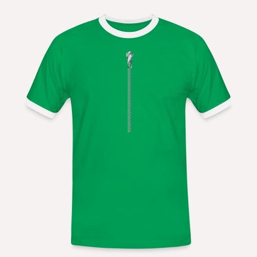 Zipper Funny Surprising T-shirt, Hoodie,Cap Print - Men's Ringer Shirt