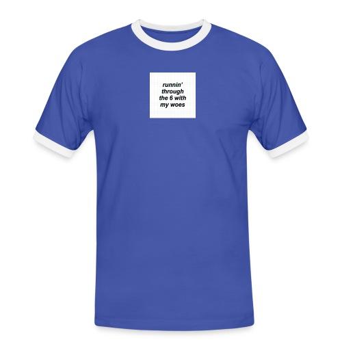 cap woes - Mannen contrastshirt