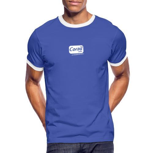 Logo blanc - T-shirt contrasté Homme