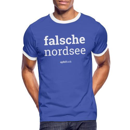 Falsche Nordsee - Männer Kontrast-T-Shirt
