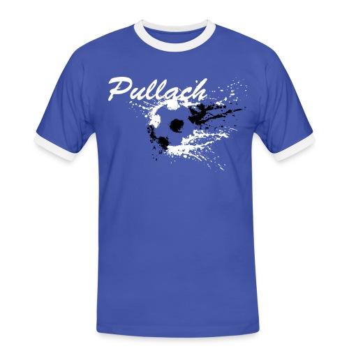 Pullach Weiss Schwarz - Männer Kontrast-T-Shirt