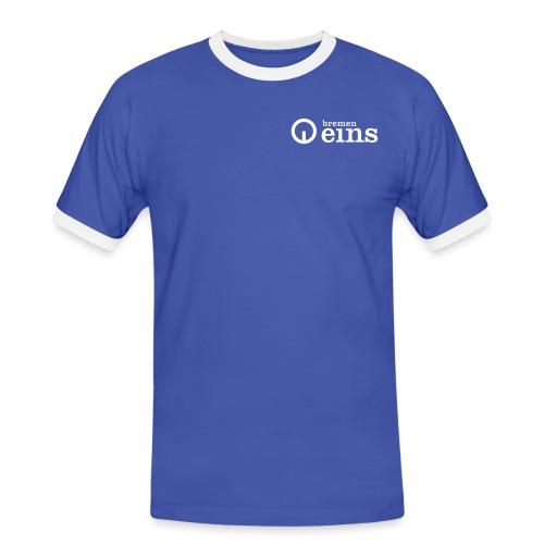BremenEins_Logo_pos_s-w - Männer Kontrast-T-Shirt