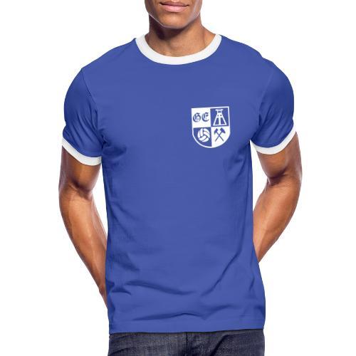 GE Wappen - Männer Kontrast-T-Shirt