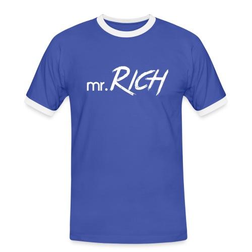Mr. Rich - Männer Kontrast-T-Shirt