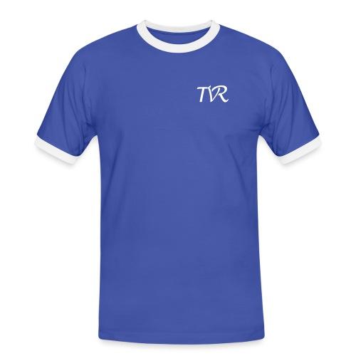 tvr_vektor_weiss - Männer Kontrast-T-Shirt