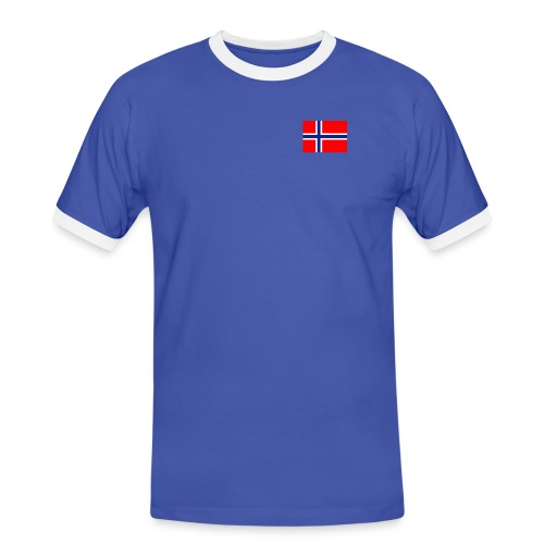 NO flag - Kontrast-T-skjorte for menn