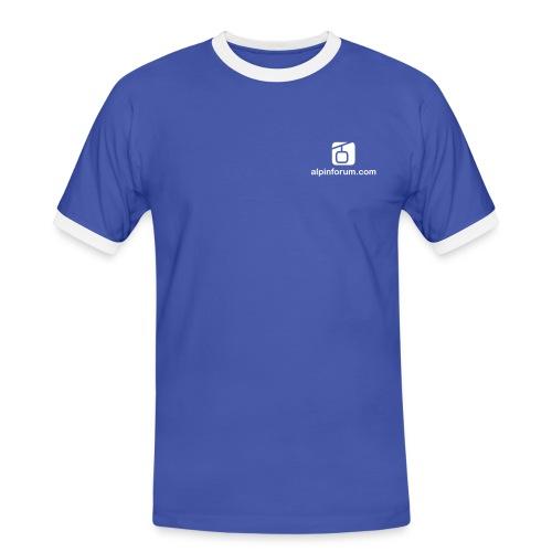logo shop brust 5x8 1c - Männer Kontrast-T-Shirt