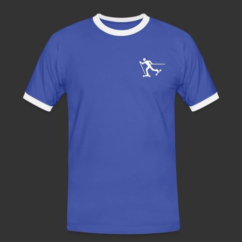 Nordic Skating - Männer Kontrast-T-Shirt