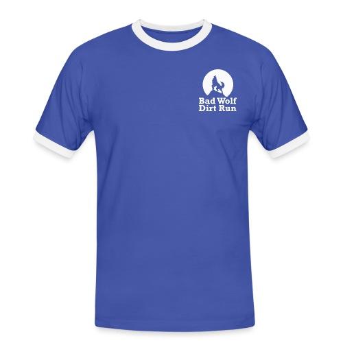 BW Logo weiß - Männer Kontrast-T-Shirt