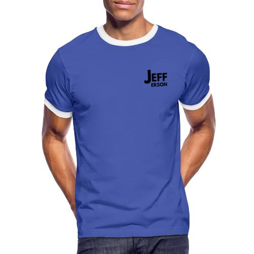 Jefferson logo klein (zwart) - Mannen contrastshirt