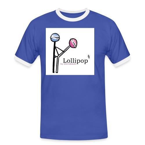 lollipop button by blondbeats - Männer Kontrast-T-Shirt