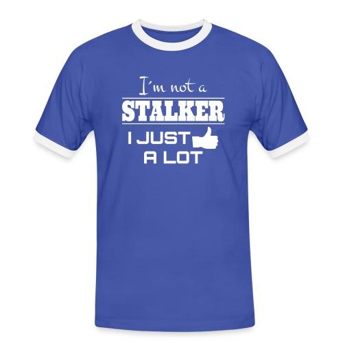 I`M NON uno stalker mi piace molto (CAMICIA divertente) - Maglietta Contrast da uomo
