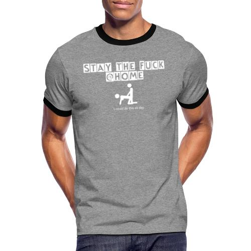 stay the fuck @home - logo - Männer Kontrast-T-Shirt