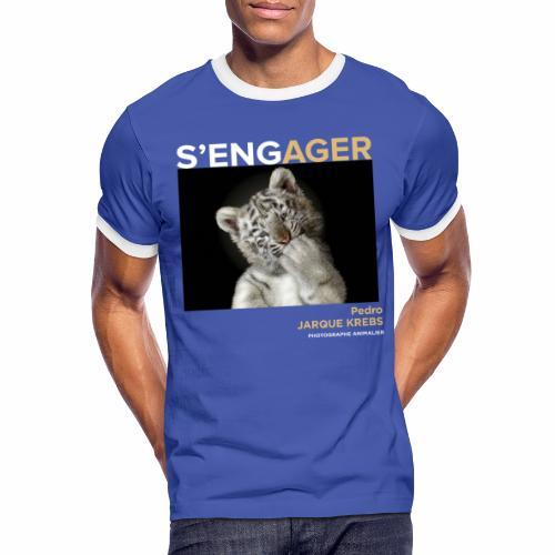 1 Achat = 1 Don à l'association Rainfer - T-shirt contrasté Homme