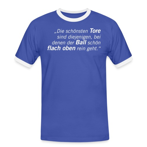 Fussball Fan Shirt - flach oben rein - m. scholl - Männer Kontrast-T-Shirt